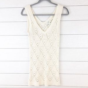 Loft Cream Knot Sleeveless Tank Tunic